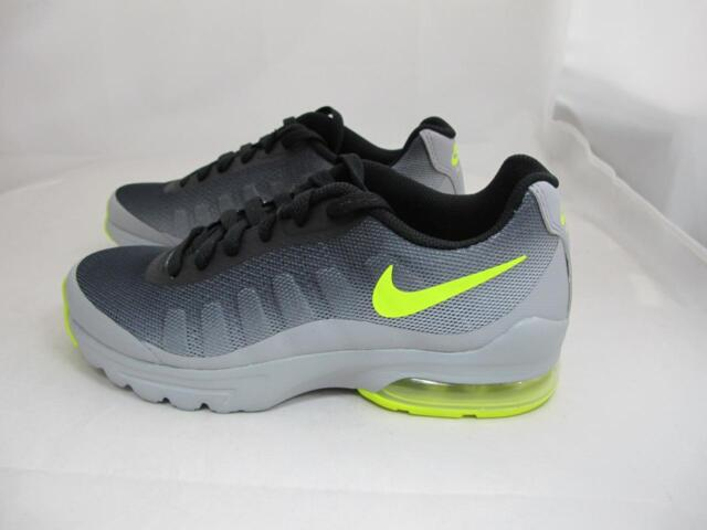 358869f350 Nike Air Max Invigor Big Kids 749572-002 Grey Black Volt Athletic ...