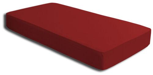 100x200 cm Spannbetttuch Bettlaken Microfaser Spannbettlaken rot 90x200 cm