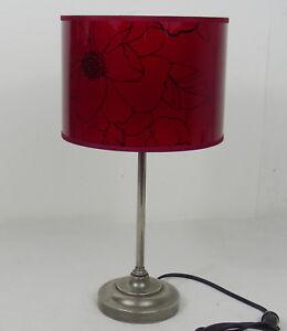 100% De Qualité Lampe Sur Pieds Ancienne Rouge Laiton Nickelé Socle Plomb Soulager La Chaleur Et Le Soleil