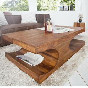 Couchtisch Sheesham Massivholz Cube 120 Cm Beistelltisch Holztisch