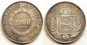 Brasil-2000-Reis-1856-EBC-XF-Plata-25-4-g-Muy-bonita