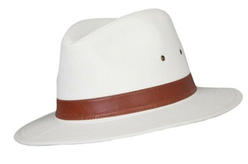 Quality 100/% Cotton Fedora Panama Sun Hat 4 Sizes Classic Design