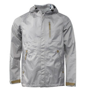 Nike Zip Silver Hooded Mens Storm Fit Waterproof Jacket Coat 439671 ... 665135fc9