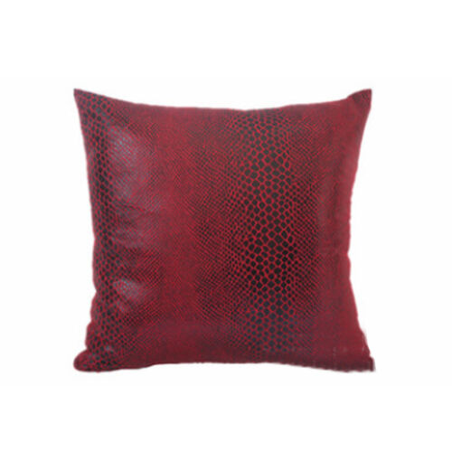 Thick Faux Leather Pillow Cover Tan Decorative Couch Throw Pillow Case 45*45cm