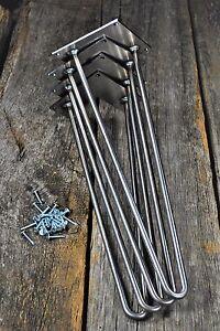 Hairpin Metal Table Legs Sets Includes Screws And Floor Protectors Ebay