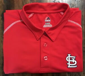St. Louis Cardinals MLB Majestic Polo Shirt Size XL