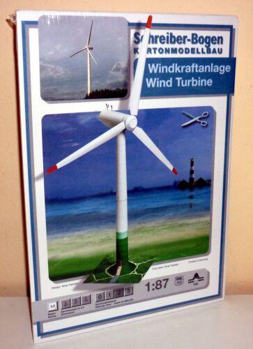 KARTONMODELLBAU Windkraftanlage  SPUR HO SCHREIBER-BOGEN 709