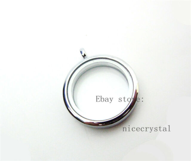 10pcs Copy Stainless Steel Round floating Locket fit DIY floating charms