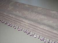 NEW Laura Ashley Josette Toile Amethyst Linen Fabric Beaded Trim Roman Blind