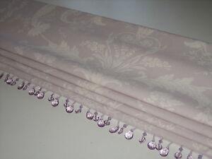 New Laura Ashley Josette Toile Amethyst Linen Fabric