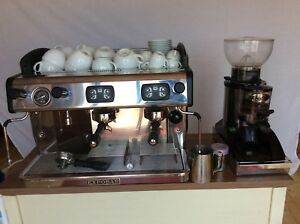 Details About Commercial Coffee Machine Expobar Zircon 2 Group With Grinder