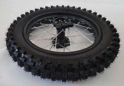 "Asse Ø12mm Gomma Cerchio Dirt Bike Ruota Completa 17 /"" Anteriore Racing"