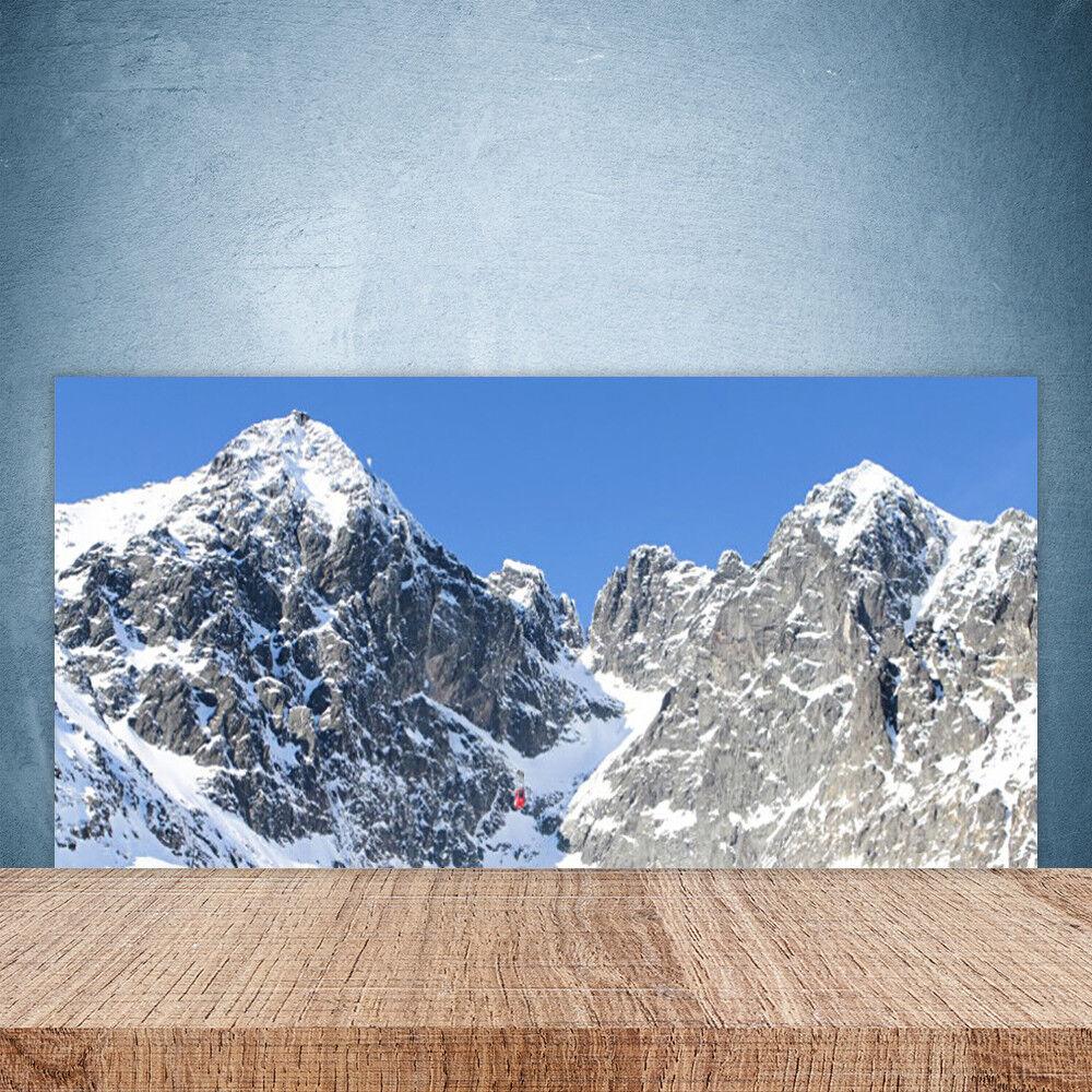 Crédence de cuisine en verre Panneau Paroi 100x50 Paysage Neige Montagne