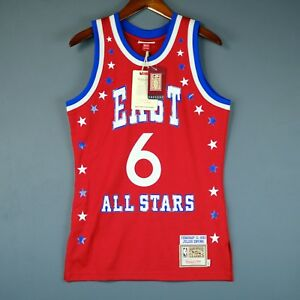100% Authentic Julius Erving Dr J Mitchell   Ness 83 All Star Jersey ... 58b3a1177