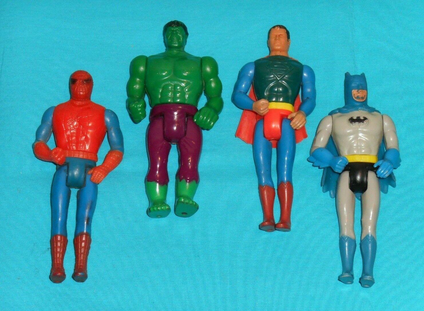 el mas de moda Vintage Mego Mego Mego Bolsillo súperheroes Lote x4 súperman Hombre Araña Batman Hulk  comprar descuentos