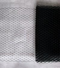 Hutnetz velo negro 1 metros Birdcage para sombreros Fascinator boda tul DIY