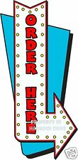 Order Here 14 Decal Lettering Food Truck Restaurant Concession Cart Stand