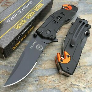 Tac-Force-Spring-Assisted-EMT-EMS-Emergency-Rescue-Tactical-Pocket-Cutter-Knife