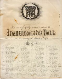 1873 Ulysses S Grant Inaugural Ball Invitation eBay