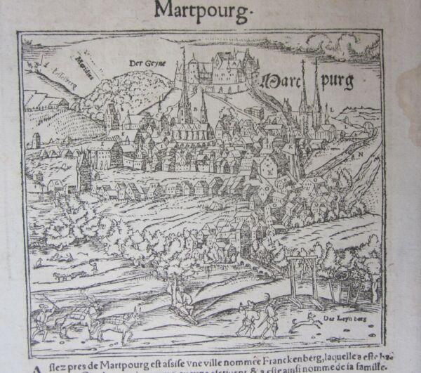 1568 Marburg Cosmographia Universalis Munster Hesse Germany Deutschland Pulizia Della Cavità Orale.