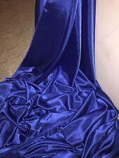 """1 M di ROYAL Blu Fodera crepe di nuovo tessuto satinato... 58"""" Wide (nuovo in magazzino)"""