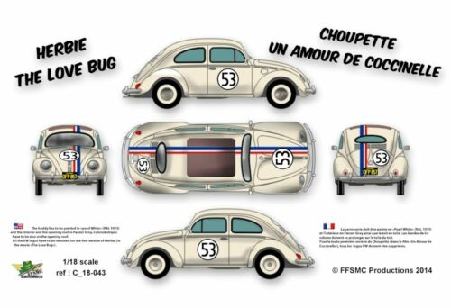 The Love Bug Decals 1//32 Herbie FFSMC Productions