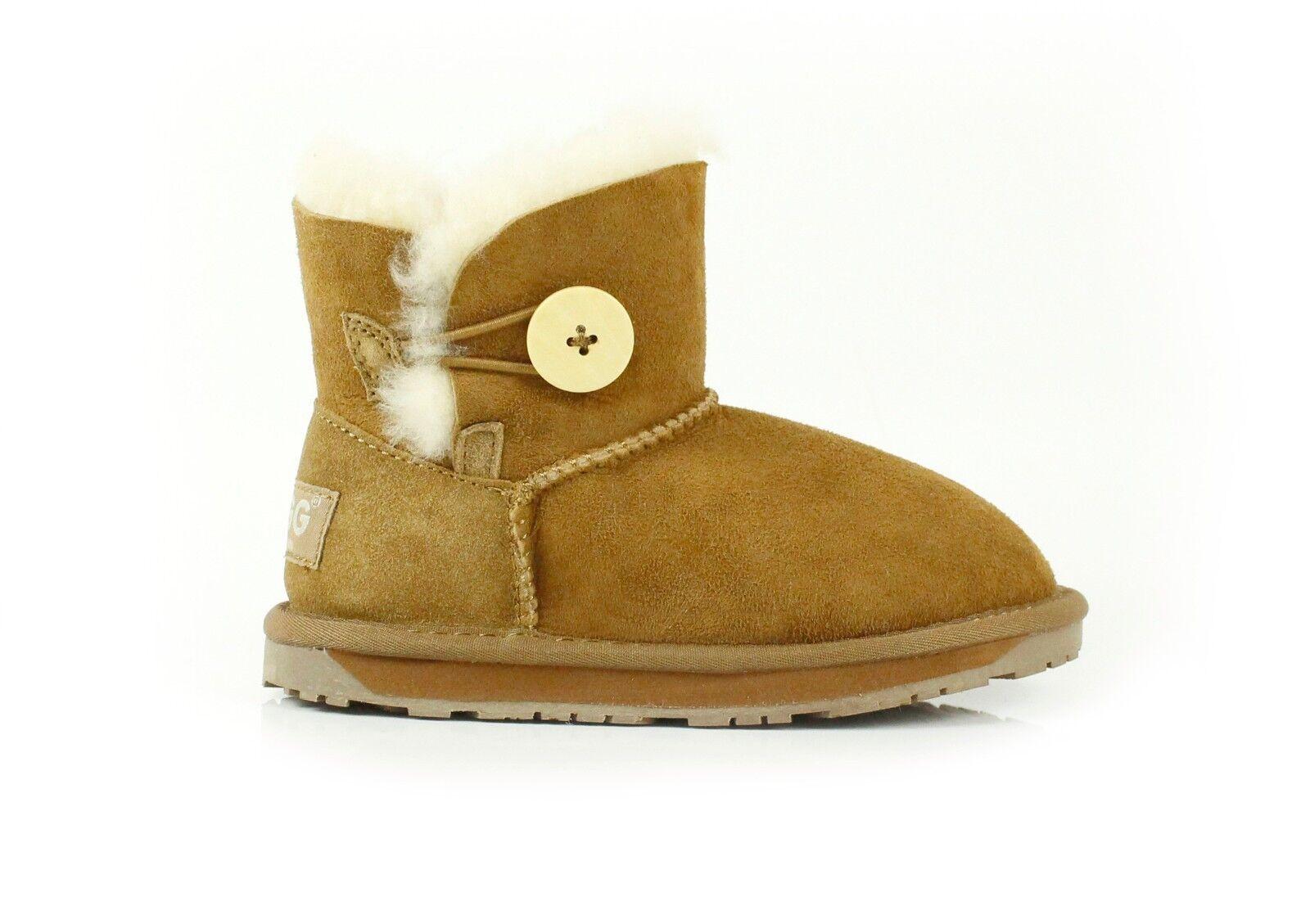 a6cdddff Barn UGG Boots - Barn Mini Button, Premium Australian Sheepskin, Vattentålig