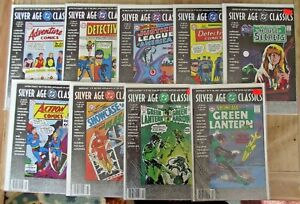 Silver-Age-Classics-DC-9-issues-Superman-Wonder-Woman-Flash-FN-to-FN-VF