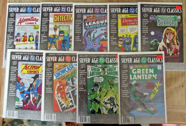Silver Age Classics DC 9 issues Superman, Wonder Woman, Flash FN to FN\VF