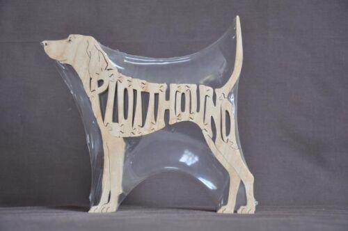 Plott Hound Scent Hound Hunting Dog Wood Toy Scroll Saw Puzzle Figurine Art