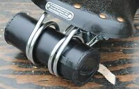 Black Leather Bike Tool Bag / Pouch 4 Vintage Bicycle Hairpin Saddles Phone Tour
