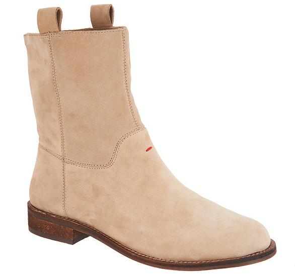 ED Ellen DeGeneres Leather Ankle Boots - Sebring Brindle Womens Size 8.5 Booties