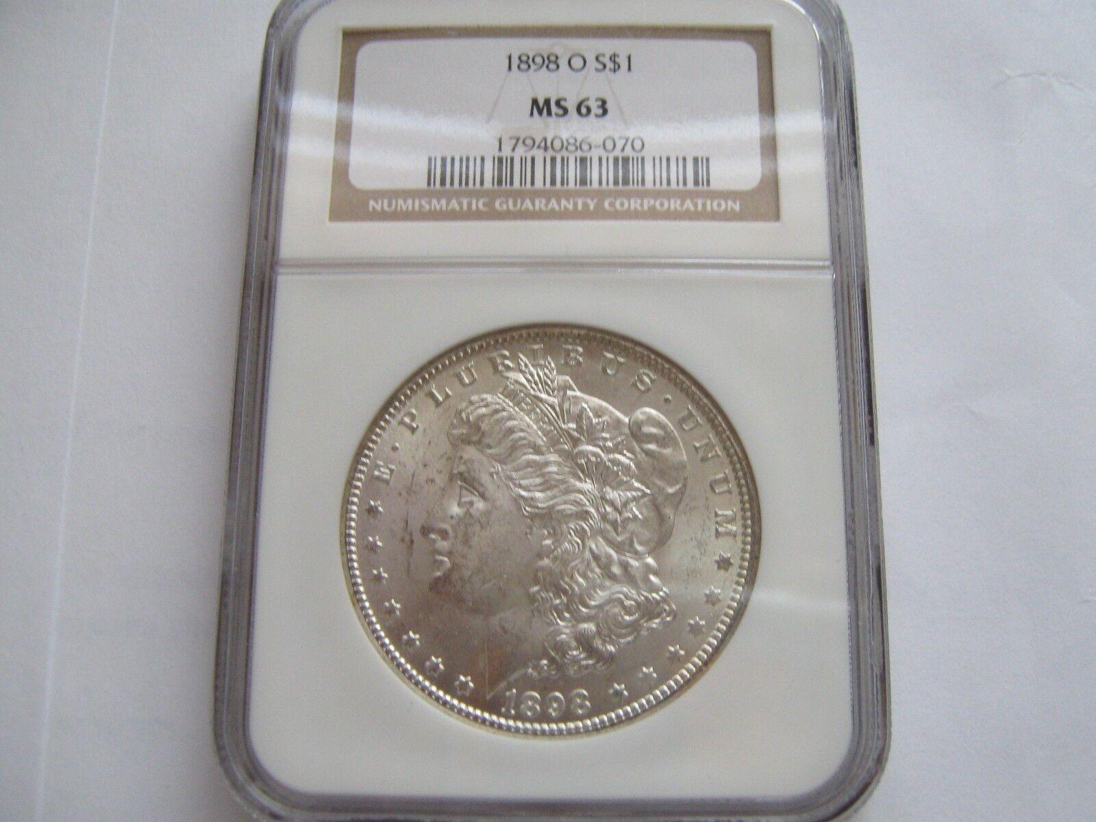 1898-O , Morgan Silver Dollar , NGC , MS 63