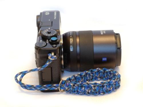Blue Selens Concave soft release button Blue Paracord Wrist Strap Fuji XT2 XE