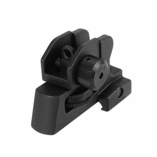 Tactical Rifle Iron Rear Sight Kit 20mm Rail Fixed Match-Grade Hunting Post
