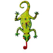 ALLEN DESIGNS Gecko Clock NEU/OVP Lizard Eidechse Pendel Wanduhr Uhr Kinder