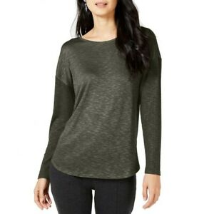 INC-NEW-Women-039-s-Long-Sleeve-Mixed-media-Knit-Casual-Shirt-Top-TEDO