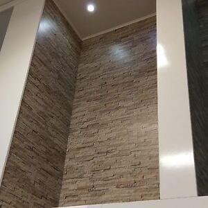 Sample of Dumapan Bilboa Masonry Beige Brick PVC Bathroom Wall ...