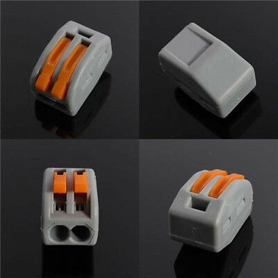 2/ 3/ 5 Way - Reusable Spring Lever Terminal Block Electric Cable Connector Wire