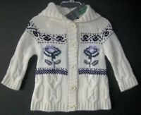Benetton Girls Ivory Cardigan (9-12m)