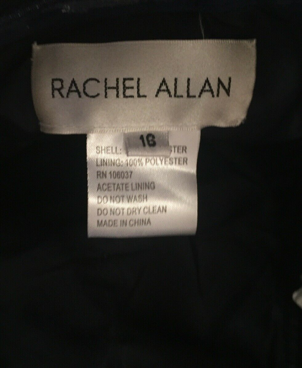 NWT Rachel Allan Short Navy Prom Prom Prom Homecoming Dress 4318 MSRP    458.00 Size-16 ccc65b