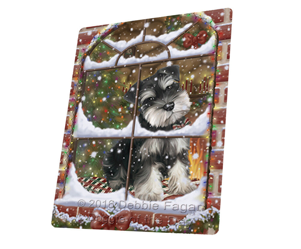 Please Come Home For Christmas Schnauzers Woven Throw Sherpa Blanket T337
