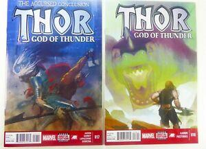 Marvel-THOR-GOD-OF-THUNDER-2014-17-18-HTF-Jason-AARON-Lot-NM-Ships-FREE