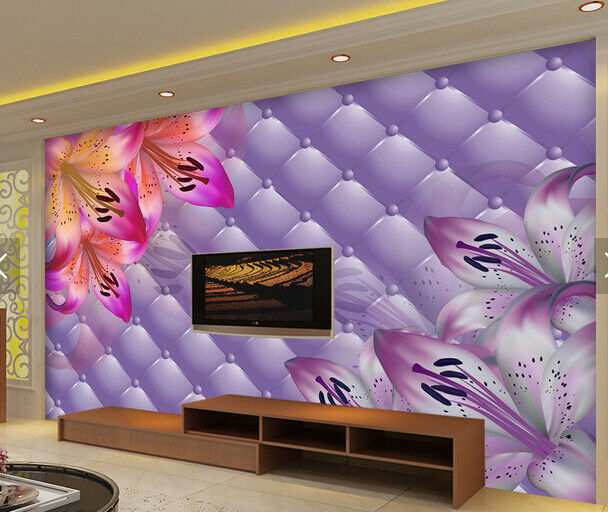 3D Lily Petal 433 Wallpaper Murals Wall Print Wallpaper Mural AJ WALL AU Kyra