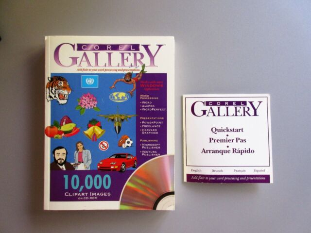 COREL Gallery Clipart 10,000 Images + Reference Manual ( IBM Compatible )