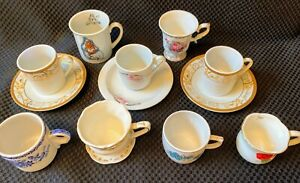 13-pc-Demi-Tasse-china-coffee-cups-D-039-Lusso-Suzy-039-s-Zoo-collection-starters