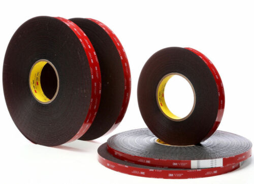 """100mm x 100mm 3M 4/"""" x 4/""""In VHB #5952 Double Sided Foam Adhesive Tape Mounting"""