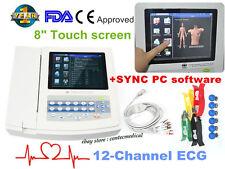 Portable Ecg Machine Digital 12 Channel 12 Lead Electrocardiographtouchusb Sw