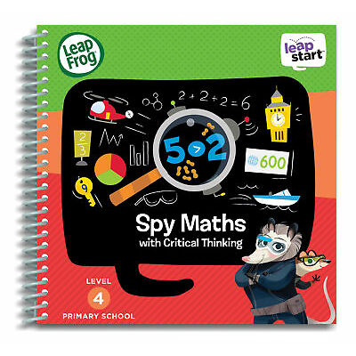 Leapfrog Leapstart Level 4, Spy Maths With Critical Thinking 30+ Page Book