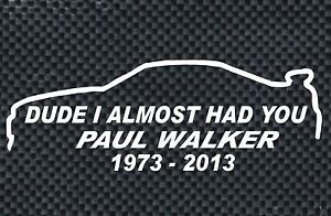 JDM Novelty DUDE I ALMOST HAD YOU Car Window Vinyl Decal Sticker